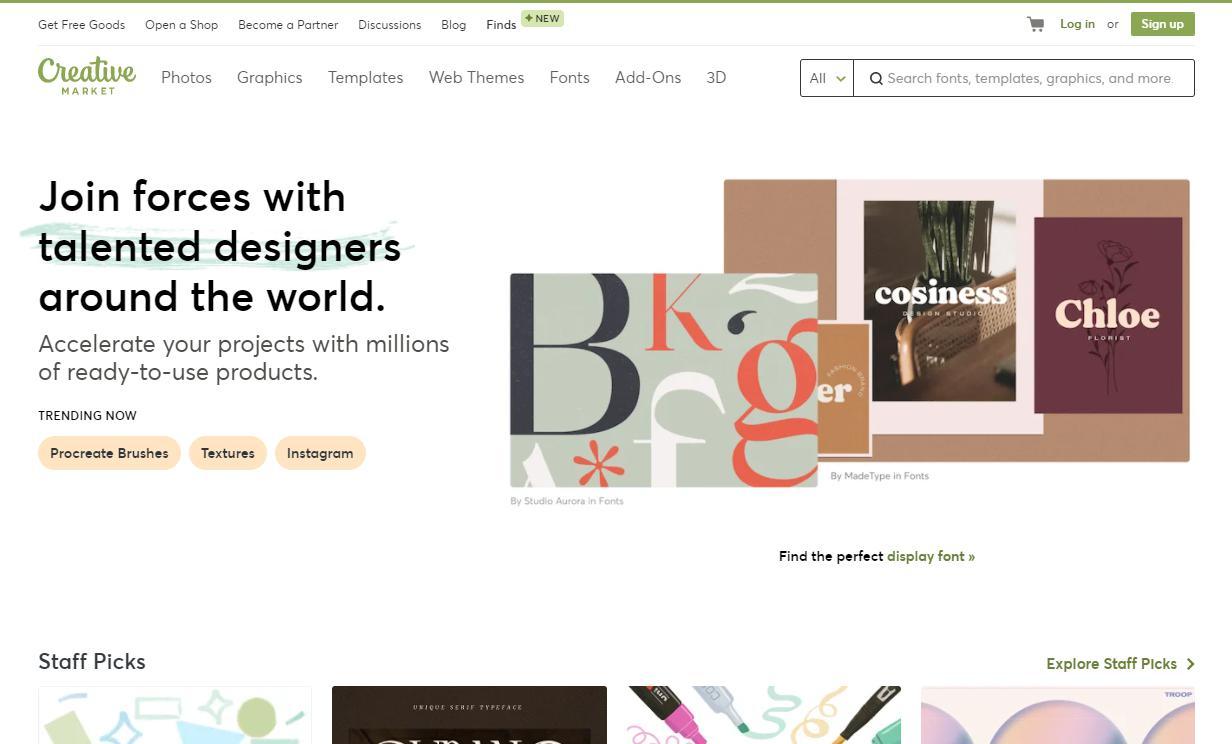 Creative Market page
