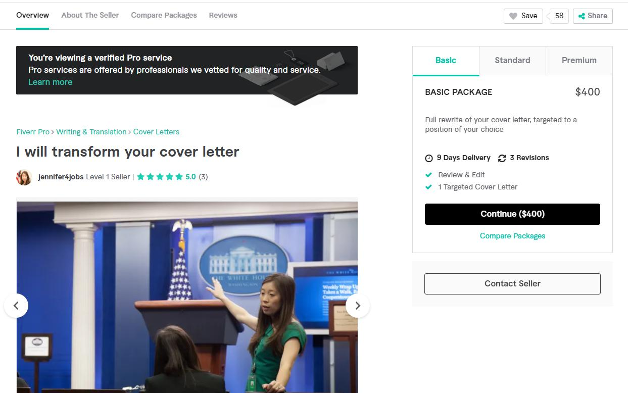 Write cover letters