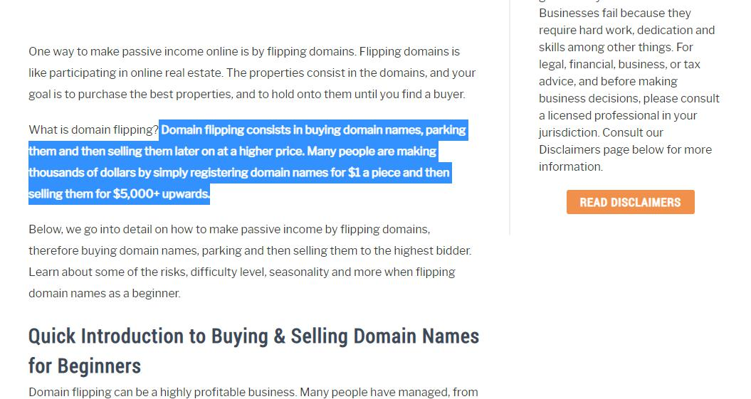 Buy and sell domains