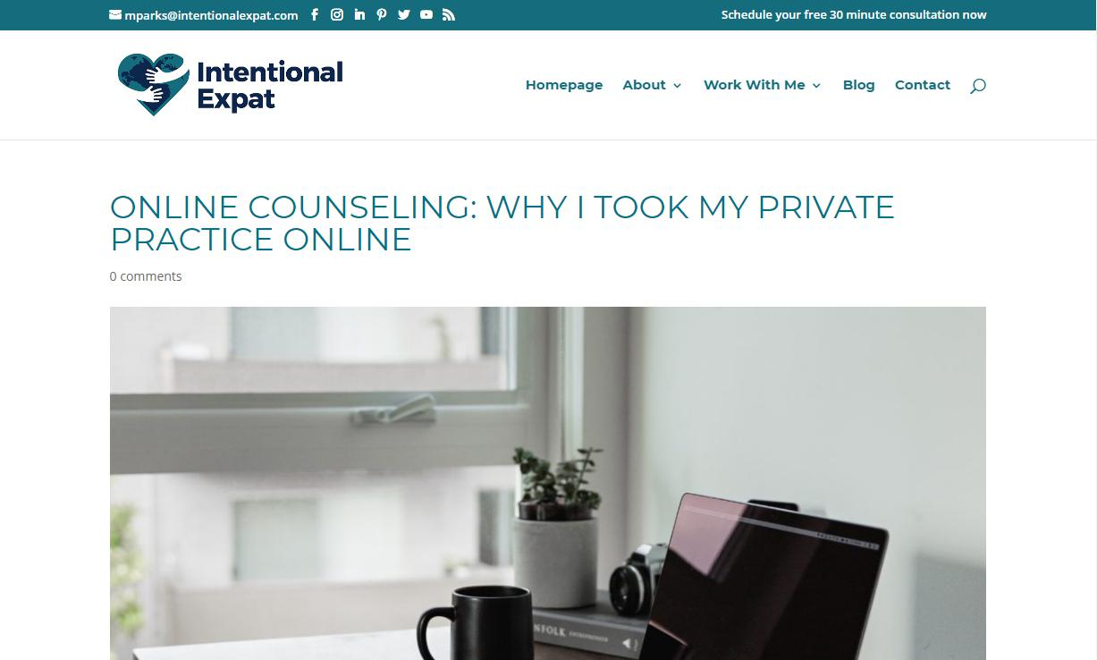 Intentional Expat page